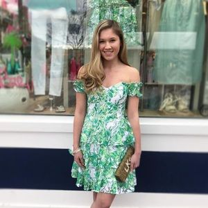 """Lilly Pulitzer """"Cicely"""" strapless lace dress 👗"""